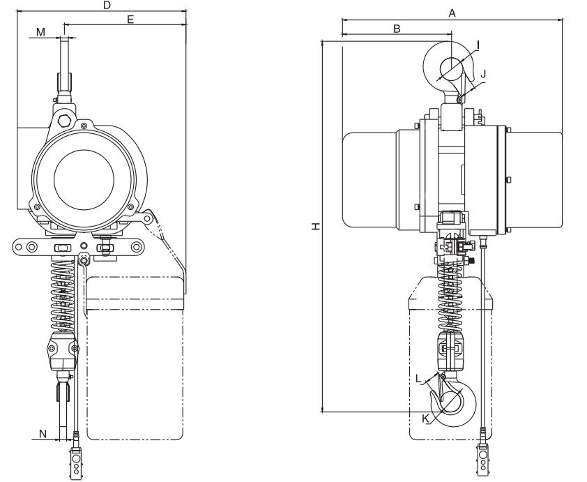 0.3t固定式环链电动葫芦